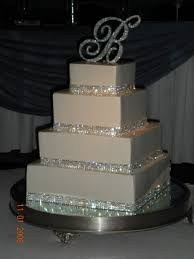 wedding cakes with bling 4 row cake ribbon rhinestone wedding cake