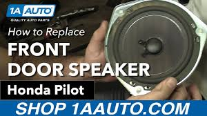honda pilot parts 2007 how to replace install front door speaker 2007 honda pilot