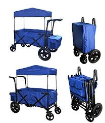 wagon baby blue push handle foot brake folding wagon baby
