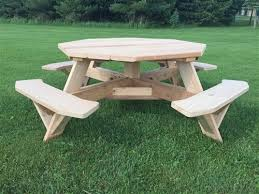 Free Octagon Wooden Picnic Table Plans by Large 8 Sided Picnic Table 61