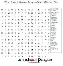 where to find free crossword puzzles online word search