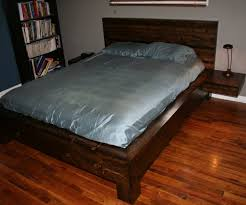 King Size Platform Bed With Storage Plans by Bed Frames Homemade Bed Frames Plans Diy King Size Platform Bed
