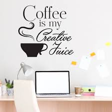 online get cheap quotes coffee aliexpress com alibaba group cafe shop wall decal quotes coffee is my creative juice vinyl wall sticker for kitchen room