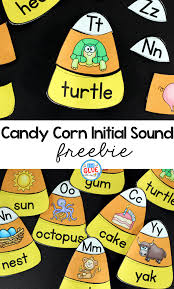 candy corn initial sound puzzles a dab of glue will do