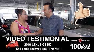 lexus pre owned toronto favorit motors video testimonial pre owned vehicles 100 toro