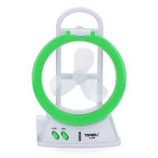 multifunctional led electric fan lamp fan light mini desk fan
