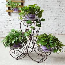 3 tier heart shape metal plant stand decor for home garden flower