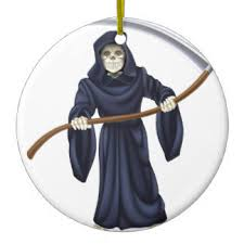 grim reaper with scythe ornaments keepsake ornaments zazzle