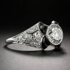 tiffany u0026 co 1 52 carat gia e vs1 art deco onyx and diamond