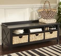 Wooden Entryway Bench Entryway Bench With Storage Baskets U2014 Railing Stairs And Kitchen