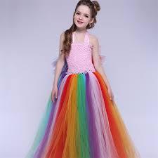 Rainbow Halloween Costume Cheap Rainbow Princess Costume Aliexpress