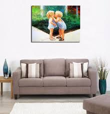 baby boy kiss picture lovely painting modern home decor oil