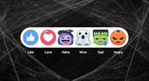Halloween Icons For Facebook Dailymail Facebook Live Gets Ghoulish With Snapchat Style