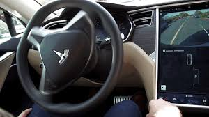 watch this self steering tesla model s drive itself and us down
