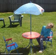 Kidkraft Outdoor Picnic Table by Home Design Magnificent Kids Patio Set With Umbrella Kidkraft