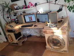 Kleiner Computer Schreibtisch Steampunk Schreibtisch Aus Paletten Part 2 Palettenbett Und