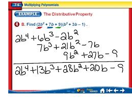 showme multiplying polynomials column method