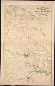 Map Of Eastern Virginia by Military Topographical Map Of Eastern Virginia Showing The Routes