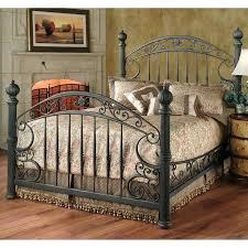 Metal Vintage Bed Frame Antique Bed Headboard Walnut High Back Style Bed Burl Panels