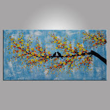 Bedroom Wall Canvases Abstract Art Love Birds Painting Bedroom Wall Art Abstract
