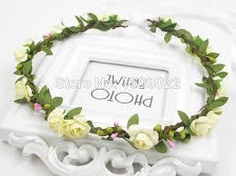 aliexpress buy floral hair crown ivory headbands
