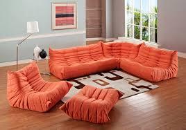 Angelo Bay Sectional Reviews by Orange Sectional Sofa U0026 Orange Leather Sofa Mk Amazing Orange