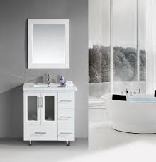 32 inch contemporary white bathroom vanity set with porcelain sink