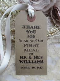 Table Place Settings by 10 Personalized Wedding Table Place Setting Tag Napkin Tie 108 X 54mm