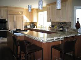 glass kitchen island kitchen attractive image of l shape kitchen design and decoration