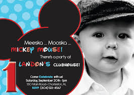 Invitation Card For 1st Birthday Mickey Mouse First Birthday Invitations U2013 Gangcraft Net