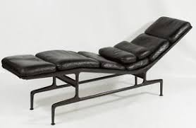 Herman Miller Leather Chair Original Charles Eames Chaise Lounge Chair Black Leather Herman