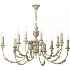Cream Chandelier Lights Emile Distressed Cream Painted Chandelier In French Shabby Chic Style