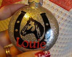horseshoe ornaments horseshoe ornament etsy