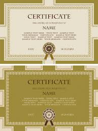 golden template certificate design vector free vector in adobe