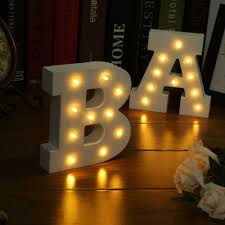 wooden 26 letters led light festival lights bedroom