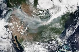 Wildfire From Space by Satellite Images As Wildfires Rage Show People Are Breathing In