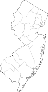 Blank County Map by Map Of New Jersey Counties World Map