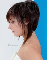 bob cut hairstyle front and back a line shape haircut with a high back and longer sections on the side