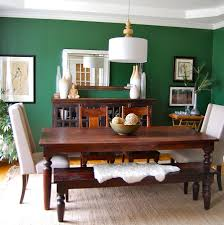 dining room green wall decal ideas with regtangular varnished