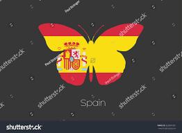 butterfly flag spain stock vector 329087381 shutterstock
