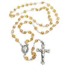 birthstone rosary bohemian glass birthstone rosary topaz november the catholic