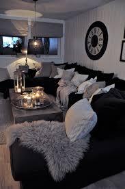 White Throws For Sofas Black And White Living Room Interior Design Ideas Dark Sofa