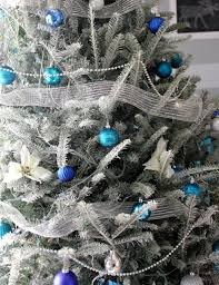 Frosty Blue Christmas Decorations by