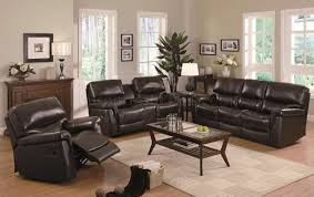 Black Leather Reclining Sofa And Loveseat Reclining Loveseat And Sofa Sets Centerfieldbar Com