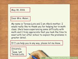 3 ways to write a letter to your child u0027s teacher wikihow