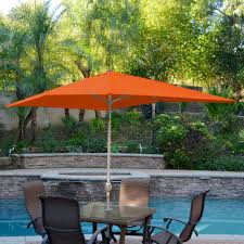 Market Patio Umbrella Jeco 6 5 X 10 Ft Aluminum Patio Market Patio Umbrella With Tilt