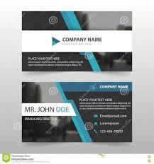 blue black corporate business card name card template horizontal