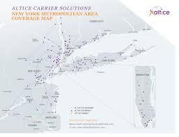 New York Area Code Map by Altice Carrier Solutions Carrier Grade 100 Fiber Optic Network