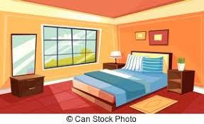 chambre de dormir concept chambre à coucher dormir vecteur fond nuit