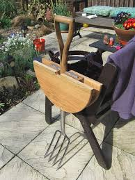 garden fork table by natalie sampson 6 creative backyard ideas